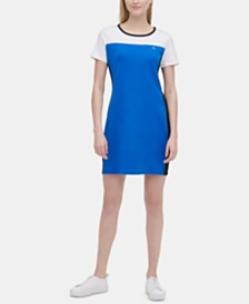 Calvin Klein Colorblocked T-Shirt Dress