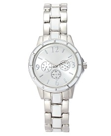 Charter Club Women's White & Silver-Tone Bracelet Watch 32mm, Created for Macy's