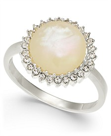 Silver-Tone Imitation Mother-of-Pearl Stone Ring, Created for Macy's