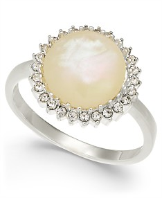 3bc65a331 Charter Club Silver-Tone Imitation Mother-of-Pearl Stone Ring, Created for