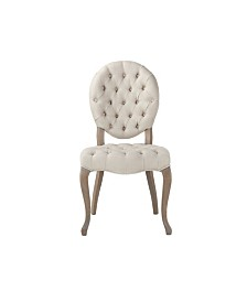 Portia Linen Tufted Chairs, Set of 2