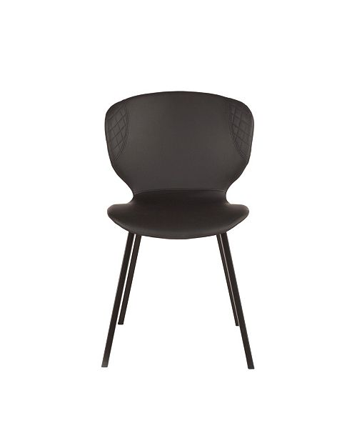 World Interiors Hudson Faux Leather Dining Chairs, Set of 2