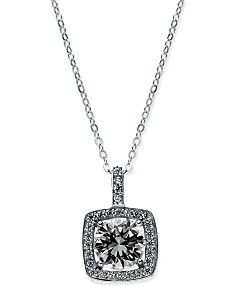 eb5a29c0d Giani Bernini Cubic Zirconia Halo Pendant Necklace in Sterling Silver, 18