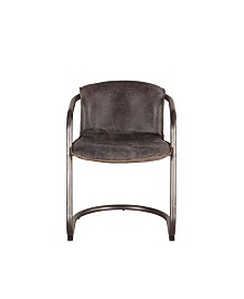 Chiavari Distressed Leather Dining Chairs, Set of 2