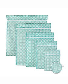 Lattice Set B Mesh Laundry Bag, Set of 6