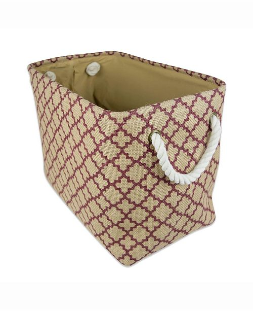 Design Imports Burlap Bin Lattice, Rectangle