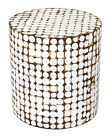 Columbia Coconut Shell Inlay Accent Table