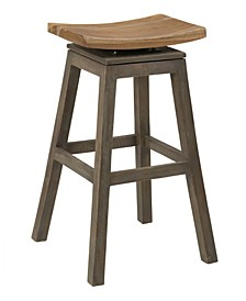 Lawton Teak Counter Stool