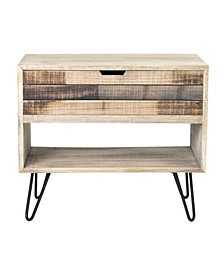 Ocilla Mindi Wood Accent Table