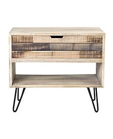 Ocilla Mindi Wood Accent Table