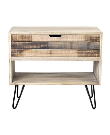 East At Main's Ocilla Mindi Wood Accent Table