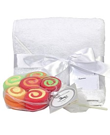 Terry Cloth Hooded Baby Towel and 12 Washcloth Gift Set