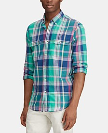 Men's Custom Fit Plaid Shirt