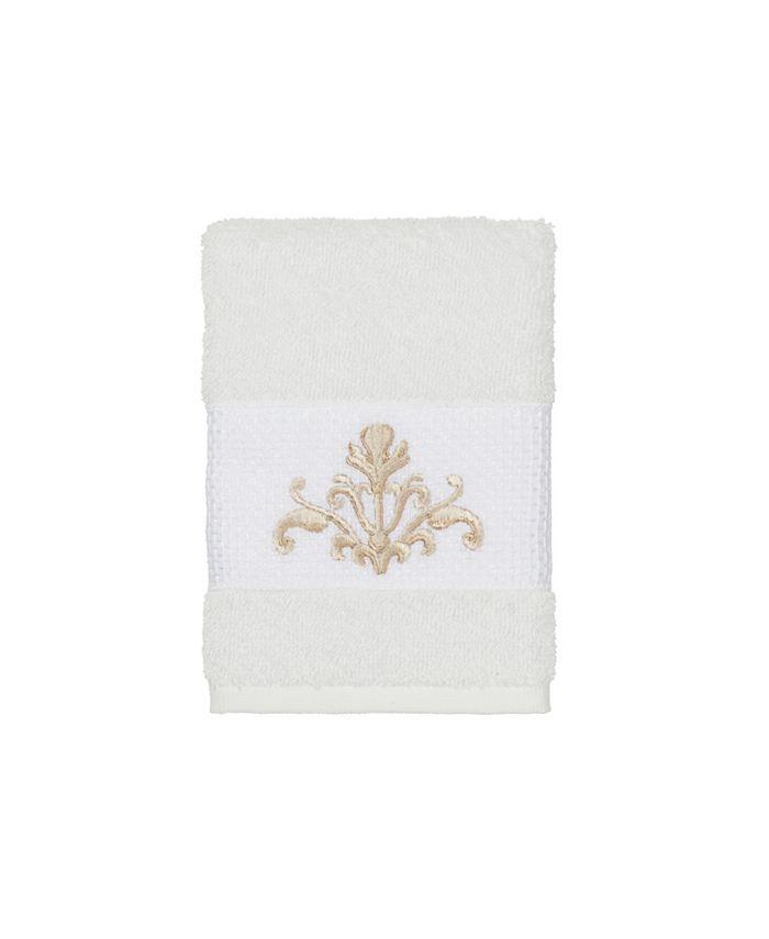 Linum Home - Turkish Cotton Scarlet Embellished Washcloth