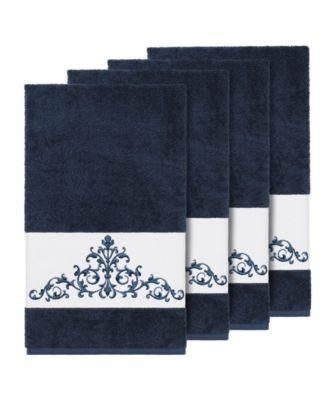 Turkish Cotton Scarlet 4-Pc. Embellished Bath Towel Set