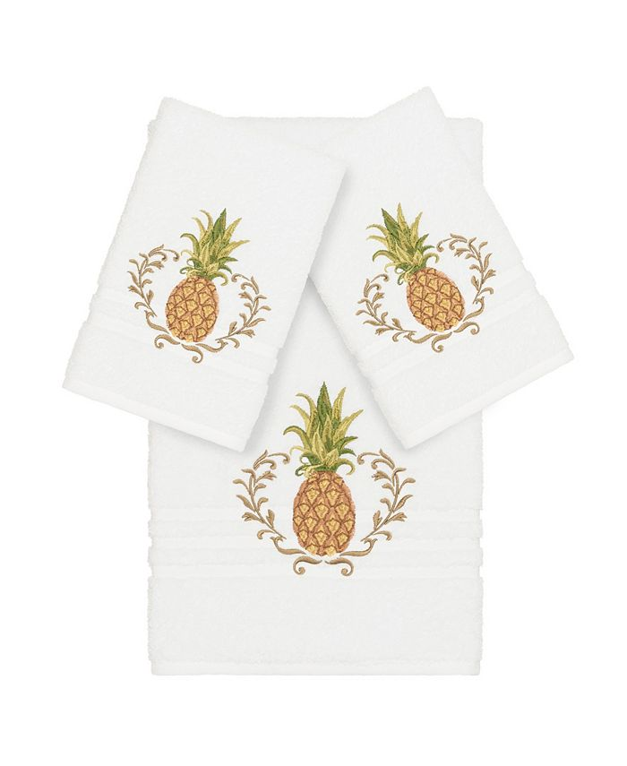 Linum Home - Turkish Cotton Welcome 3-Pc. Embellished Towel Set