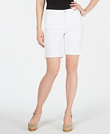 Petite Tummy-Control Cuffed Shorts, Created for Macy's