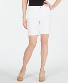 Charter Club Petite Tummy-Control Cuffed Shorts, Created for Macy's