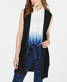 Charter Club Open-Front Pointelle Vest, Created for Macy's