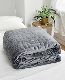 Dreamtheory 15 lbs Microfiber Weighted Blanket with Minky Duvet Cover