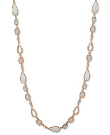 "Anne Klein Gold-Tone Crystal & Stone 42"" Strand Necklace"