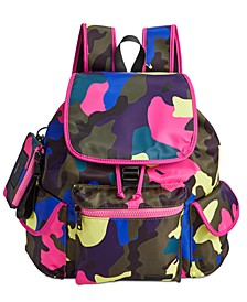 Cardi Drawstring Flap Backpack With ID Case