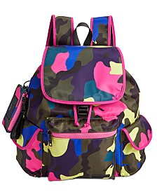 Steve Madden Cardi Drawstring Flap Backpack With ID Case
