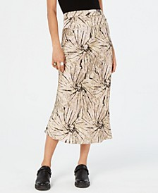Normani Bias-Printed Skirt
