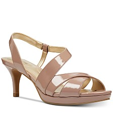 Bandolino Kenosha Slingback Platform Dress Sandals