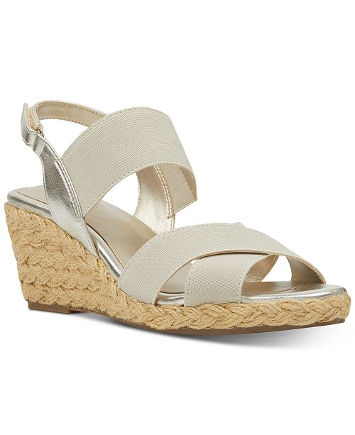 d5e9cc3c35 Bandolino Hearsay Espardille Wedges Sandals; Bandolino Hearsay Espardille Wedges  Sandals ...