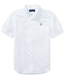 Big Girls Solid Oxford Top