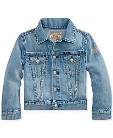 Polo Ralph Lauren Big Boys Cotton Denim Trucker Jacket