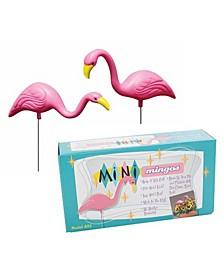 "MiniMingo 13"" Flamingo Garden Stake, 2 Pack"