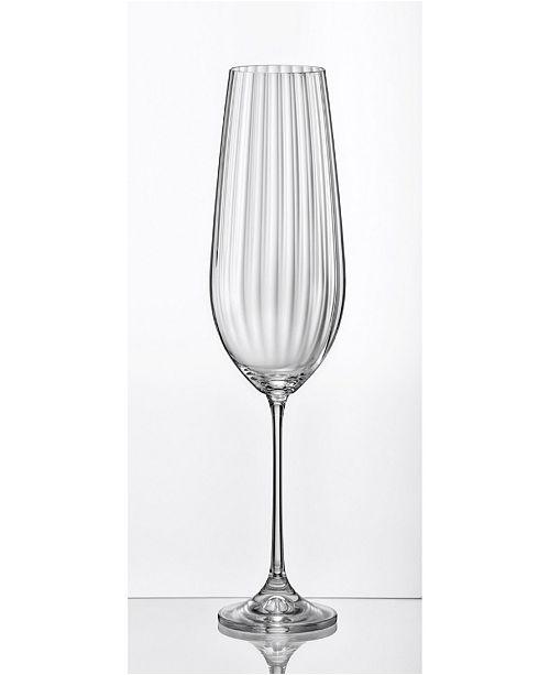 Red Vanilla Viola Optic Red Wine Glass 18.5 Oz, Set of 6
