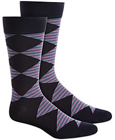 Men's Diamond Striped Socks, Created for Macy's