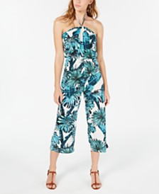 Almost Famous Juniors' Halter-Tie Jumpsuit