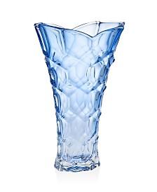 "Godinger Ceska Claridge Blue 14"" Vase"