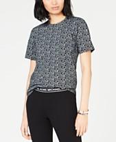 a8d2bebc MICHAEL Michael Kors Cotton Logo-Print T-Shirt, Regular & Petite