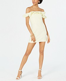 Whisper Ruffled Off-The-Shoulder Dress