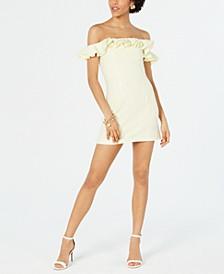Whisper Ruffled Off-The-Shoulder Dress