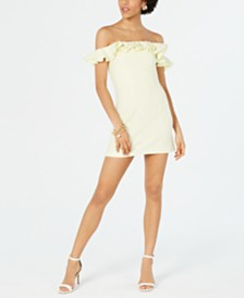French Connection Whisper Ruffled Off-The-Shoulder Dress