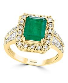 Brasilica by EFFY® Emerald (2-1/5 ct. t.w.) & Diamond (1/2 ct. t.w.) Ring in 14k White Gold & 14k Yellow Gold