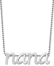 "Nana 16"" Pendant Necklace in Sterling Silver"