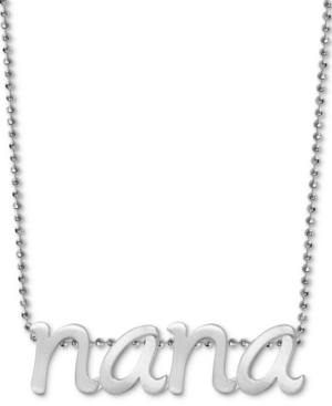 "Nana 16"" Pendant Necklace in Sterling Silver"
