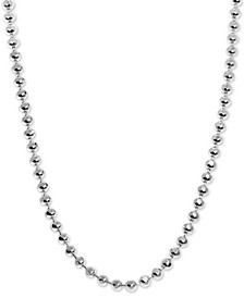"Beaded 20"" Chain Necklace in Sterling Silver"