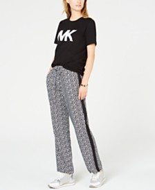 MICHAEL Michael Kors Studded Logo Top & Track Pants