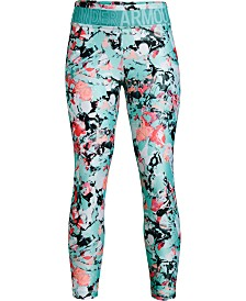 Under Armour Big Girls Armour HeatGuard Printed Cropped Leggings