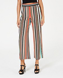 Petite Striped Culotte Pants