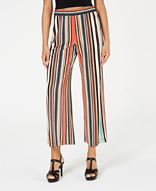 NY Collection Petite Striped Gaucho Pants