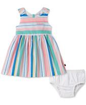 ba1ba1afe0d95 Tommy Hilfiger Baby Girls Striped Cotton Dress